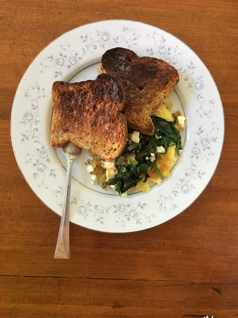 A pretty plate makes even dark toast taste wonderful.