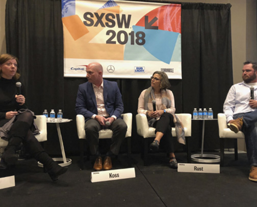 Rosanne Rust speaking at SXSW 2018